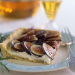 Fresh Fig Tart with Rosemary Cornmeal Crust and Lemon Mascarpone Cream recipe