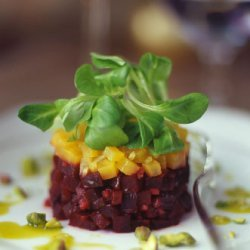 Beet and Goat Cheese Salad with Pistachios recipe