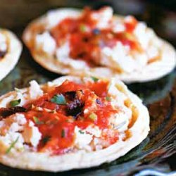 Memelas with Queso Fresco and Charred Tomato Sauce recipe