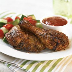 Dry-Rub Chicken with Honey Barbecue Sauce recipe