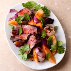 Melon and Steak with Smoked Paprika Dressing recipe