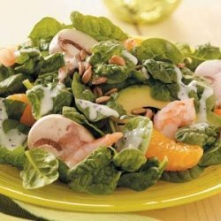 Spinach and Shrimp Salad recipe