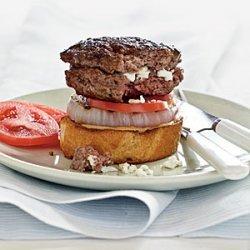 Feta-Stuffed Burgers with Grilled Onion on Sourdough recipe