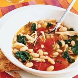 Chicken, White Bean, and Spinach Stew recipe