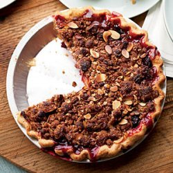 Stone Fruit Pie with Almond Streusel recipe
