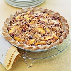 Blue Ribbon Peach Praline Pie recipe