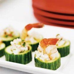 Mediterranean Shrimp Salad in Cucumber Cups recipe