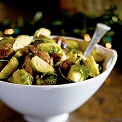 Roasted Brussels Sprouts and Chestnuts recipe