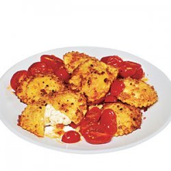 Quick Crisp Ravioli with Roasted Tomato Sauce recipe