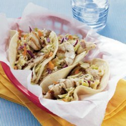Fish Tacos with Sesame-Ginger Slaw recipe