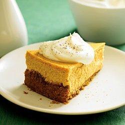 Roasted Sweet-Potato Cheesecake with Maple Cream recipe