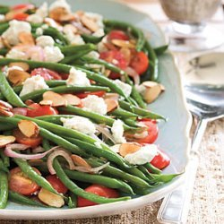 Green Beans with Goat Cheese, Tomatoes, and Almonds recipe