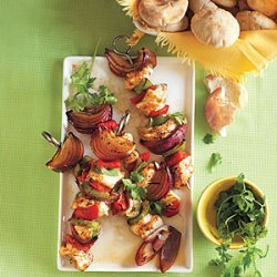 Chicken and Pepper Kebabs recipe