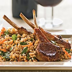 Lamb Chops With Lemony Bulgur recipe