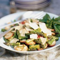 Grilled Potatoes and Asparagus with Basil and Parmesan recipe