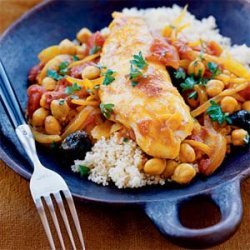 Tilapia with Tomatoes and Garbanzos recipe