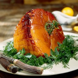 Baked Ham with Bourbon Glaze recipe