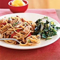 Teriyaki Pork and Vegetables with Noodles recipe