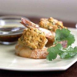 Stuffed Shrimp with Lemon-Pomegranate Glaze recipe
