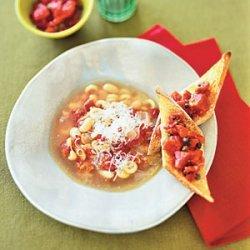 Quick Pasta e Fagioli With Parmesan recipe