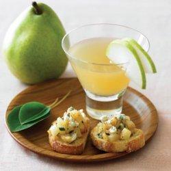 Caramelized Pear and Sage Crostini recipe