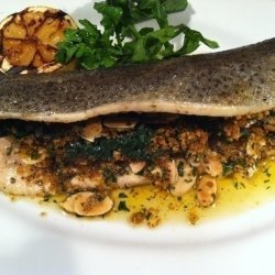 Grilled Rainbow Trout with Mushroom Stuffing recipe