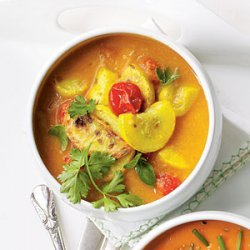 Yellow Squash and Curry Stew recipe