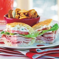 Ham and Cheese Party Sandwiches recipe