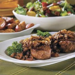 Beef Fillets with Cognac-Onion Sauce recipe
