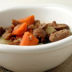 Pork Stew with Cipollini, Mushrooms, and Chestnuts recipe