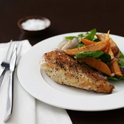 Chicken with Roasted Sweet Potato Salad recipe