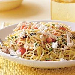 Speedy Spaghetti with Chicken and Fresh Tomato recipe