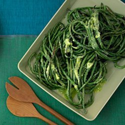 Roasted Long Beans with Herb Butter recipe