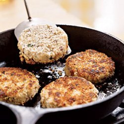 Crab Cakes with Roasted Vegetables and Tangy Butter Sauce recipe