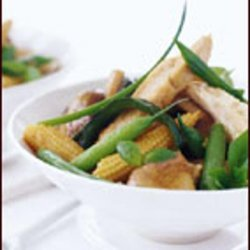 Thai Chicken with Mushrooms, Green Beans and Basil recipe