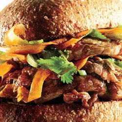Soy-Marinated Pork Sandwiches recipe