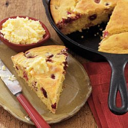 Cranberry Orange Cornbread with Orange  Butter  recipe