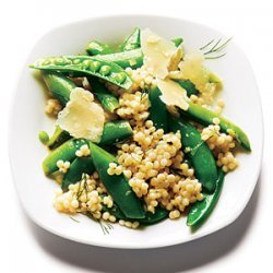 Israeli Couscous and Dill Snap Peas recipe