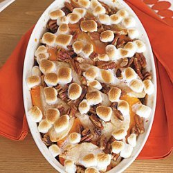 Sweet Potato Casserole with Pears and Marshmallows recipe