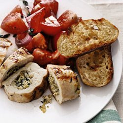Stuffed Chicken Breasts with Tomato Salad recipe