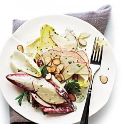 Apple, Almond, and Endive Salad with Creamy Herb Dressing recipe