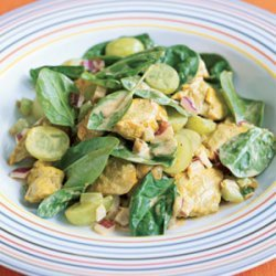 Curried Chicken Salad with Grapes recipe