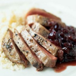 Duck with Port and Cranberry-Cherry Sauce recipe