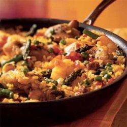 Chicken and Shrimp Paella recipe
