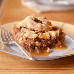 Nutty Apple Spice Cake with Quick Butterscotch Sauce recipe