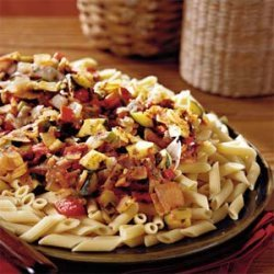 Spicy Vegetables With Penne Pasta recipe