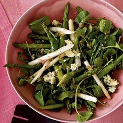 Asparagus and Spring Greens Salad with Gorgonzola Vinaigrette recipe