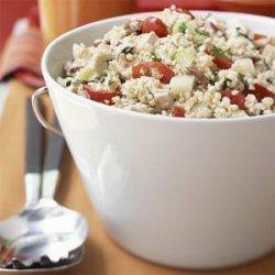 Greek Bulgur Salad with Chicken recipe
