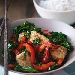 Fragrant Chicken with Kale & Lemon Grass Stir Fry recipe