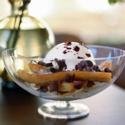 Baked Bananas with Ice Cream and Shaved Chocolate recipe